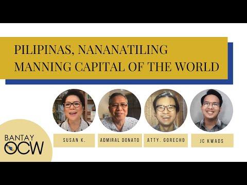 Pilipinas, Nananatiling Manning Capital of the World!