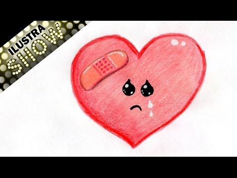 Como Dibujar Un Corazon Triste Curita Corazones Amor