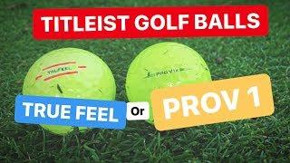 TITLEIST GOLF BALLS TRUE FEEL OR PROV 1X