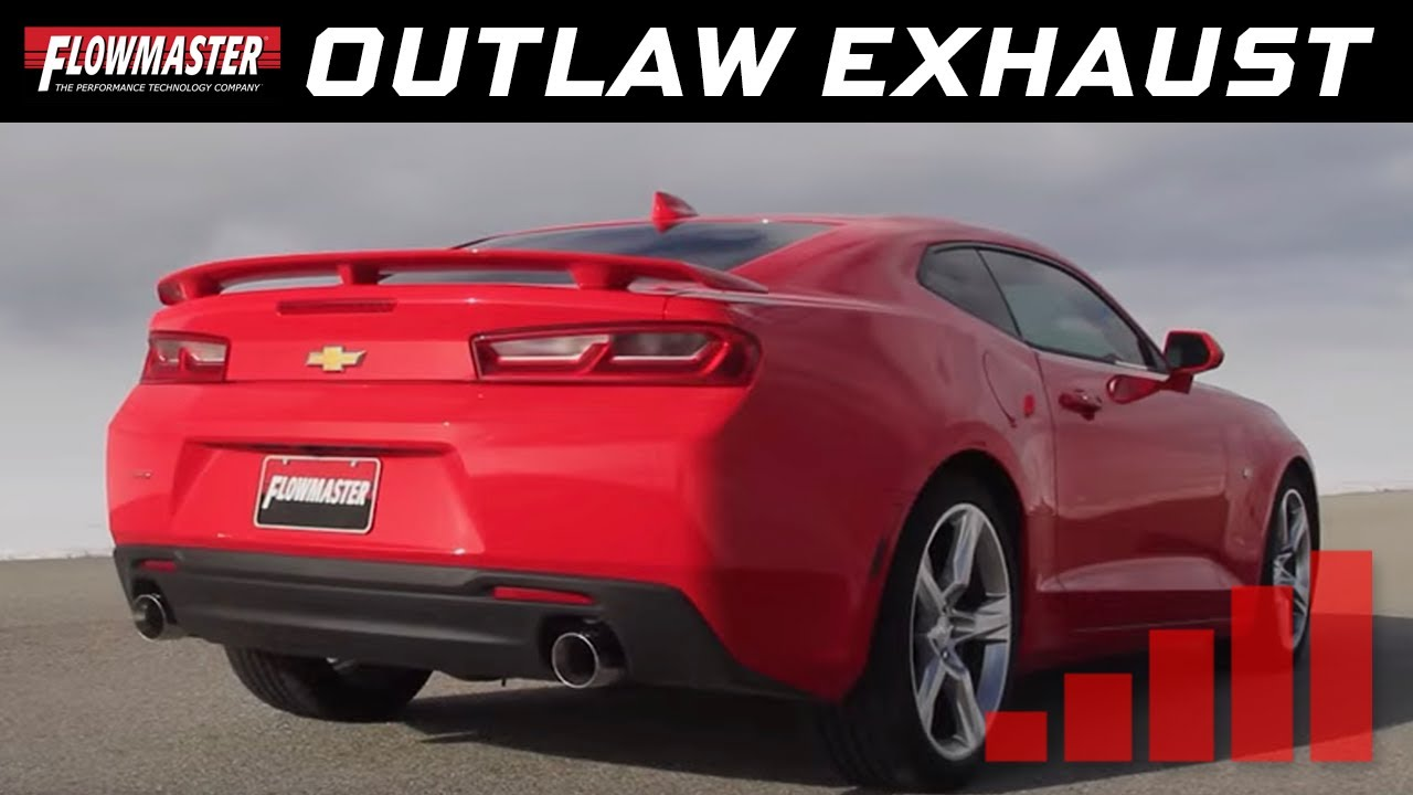 Flowmaster outlaw axle back exhaust system 2016 2017 camaro ss 6 2l v8 817745 youtube