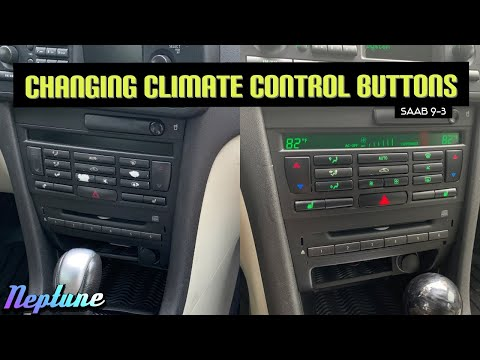 How to replace the Climate Control Buttons | Saab 9-3 Aero Sport Combi