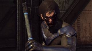 Batman Arkham City - Nightwing Gameplay DLC Review (Combat & Gadgets) [Xbox 360]