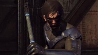 Batman Arkham City - Nightwing Gameplay DLC Review (Combat & Gadgets) [Xbox 360]