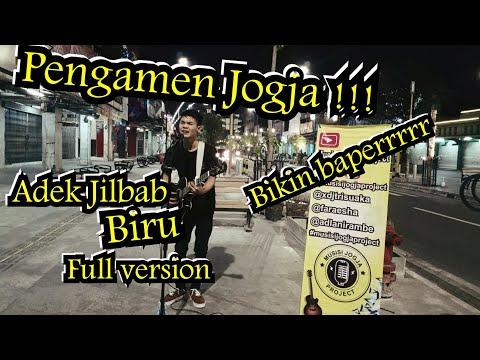 PENGAMEN JOGJA ADEK JILBAB BIRU FULL COVER !!! LAGUNYA BIKIN BAPERR   MALIOBORO STREET