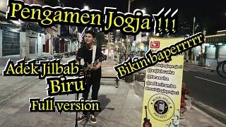 PENGAMEN JOGJA ADEK JILBAB BIRU FULL COVER !!! LAGUNYA BIKIN BAPERR | MALIOBORO STREET
