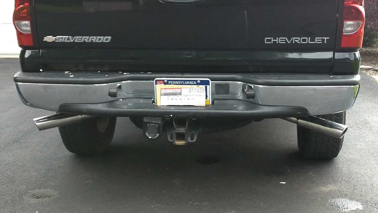 2005 chevy silverado flowmaster exhaust 5.3 cat back loud ...