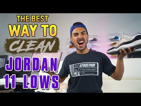 Trashed Jordan 11 Low Concord Cleaning Tutorial