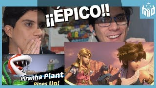 EPIC REACTION Super Smash Bros Ultimate Direct - ¡Adventure Mode! | N Deluxe