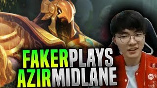 Faker Wants to Destroy with Azir! - SKT T1 Faker Plays Azir Mid!   SKT T1 Replays