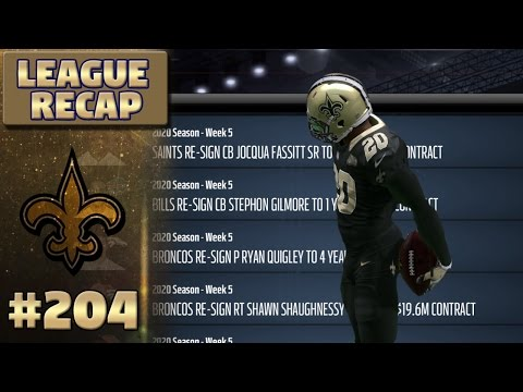 Early Season League Recap!! | Madden NFL 17 New Orleans Saints Franchise Ep. 204
