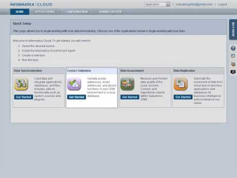 Getting Started with Informatica Cloud Integration