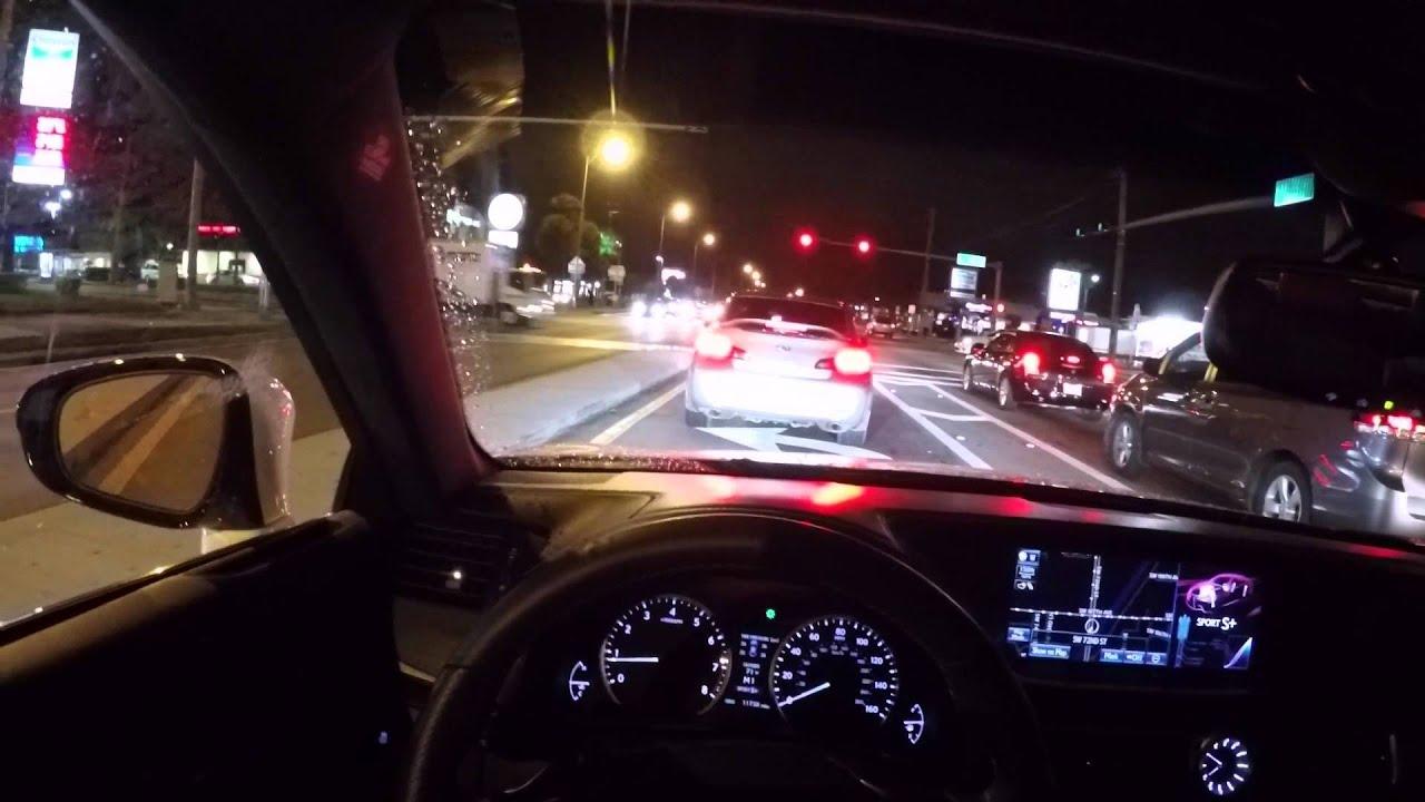 GoPro Hero 4 Silver Night Time 2014 Lexus GS 350 F Sport
