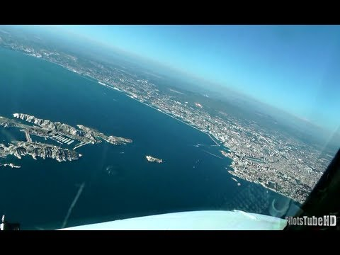 Scenic Noseview Landing in Marseille [FullHD]