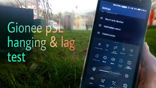Gionee p5l speed and hang test