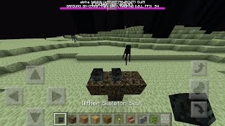 What Happens When You Spawn The Wither in The End? - Minecraft PE (Pocket Edition)