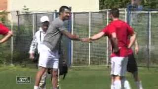 The best Serbian tennis players took part in charity football match