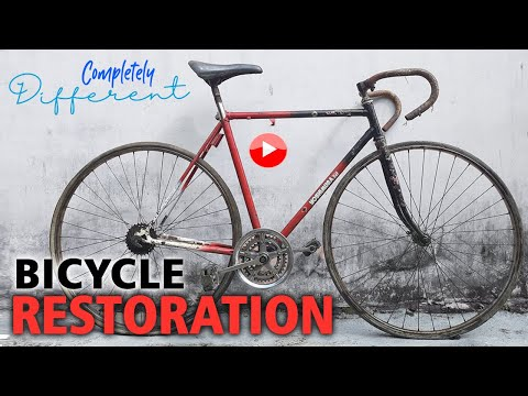 Restoration Old Abandoned Road Bike   Rebuild Vintage Bicycle thumbnail