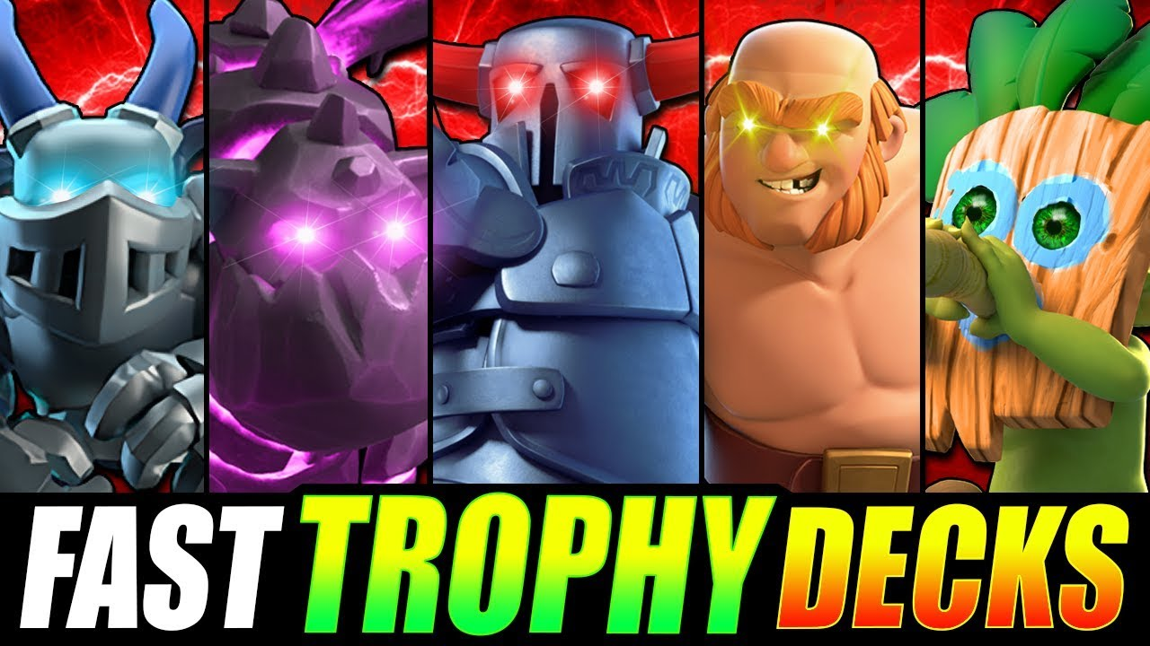 Top 5 Fastest Trophy Pushing Decks In Clash Royale 2019 Youtube