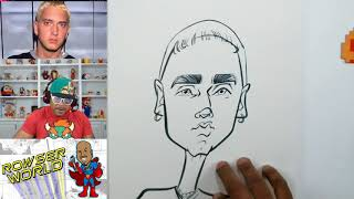 How To Draw Caricatures | Eminem