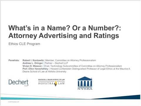 What's in a Name? Or a Number? Attorney Advertising & Ratings