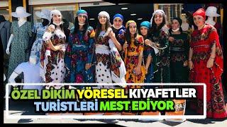 Turistlerden Mardinin Yöresel Kıyafet ve Şalvarlarına Yoğun İlgi