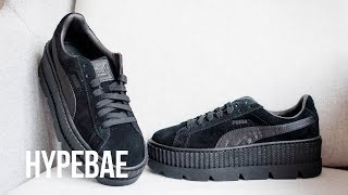 Fenty PUMA By Rihanna Black Suede Cleated Creeper Unboxing