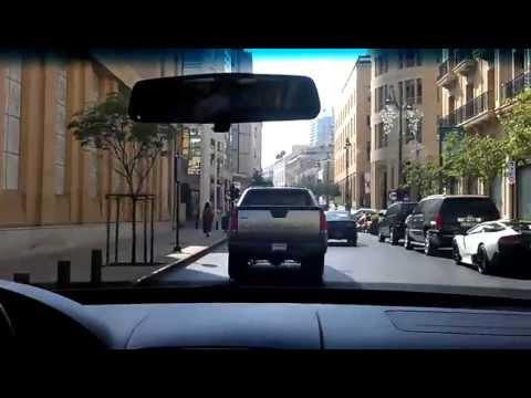 Downtown Beirut Hariri bomb place and Corniche in Lebanon