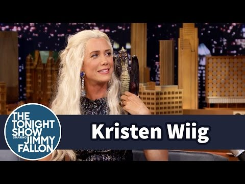 Jimmy Interviews Khaleesi from Game of Thrones (Kristen Wiig ...