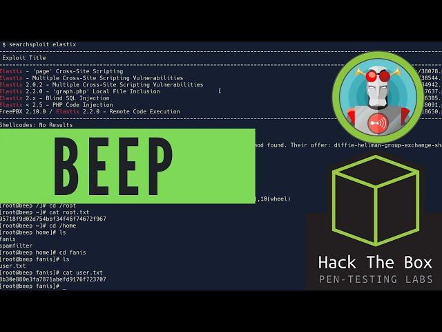 HackTheBox Beep Walkthrough - LFI Exploitation