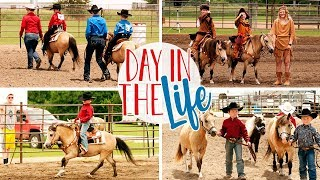 Day In The Life Vlog of a Stay at Home Mom | Horse Show | Walmart Haul