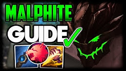 HOW TO MALPHITE JUNGLE & CARRY FOR BEGINNERS | League of Legends