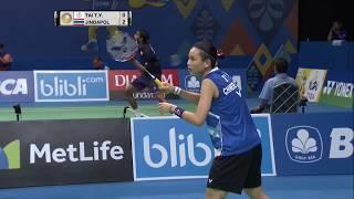 BCA Indonesia Open 2017 | Badminton QF M3-WS | Tai Tzu Ying Vs Nitchaon Jindapol