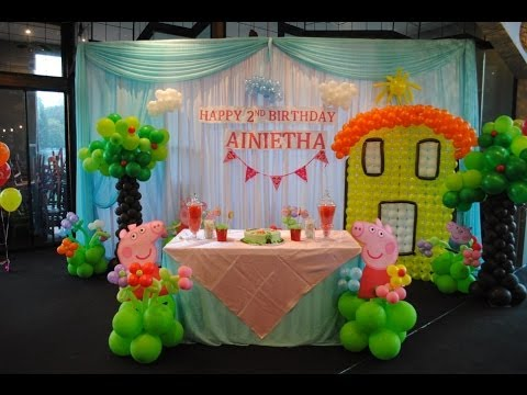 Peppa Pig Theme Decorations