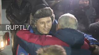 Russia: Cosmonaut Prokopyev arrives home after spending 197 days in space