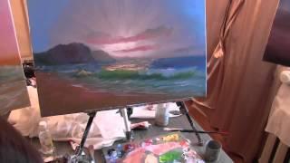 Научиться рисовать пейзаж, картина для начинающего художника, художник Сахаров Игорь