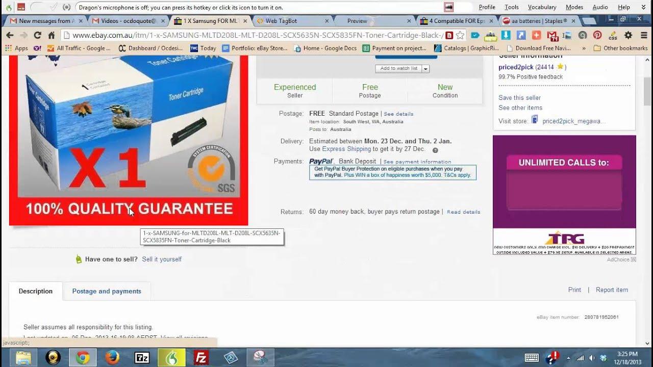 Ebay templates design listing editor tutorial ocdesignsonline youtube for Ocdesignsonline