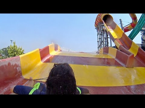 Typhoon Tunnel Water Slide at Blue World Theme Park