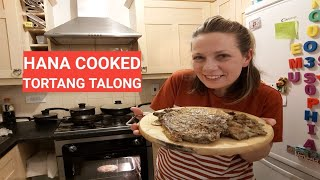 Filipino-Czech family: Hana cooked Tortang talong funny tagalog pronunciation