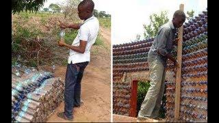 В лагере для беженцев он построил дом из пластиковых бутылок, чтобы не ютиться в палатке