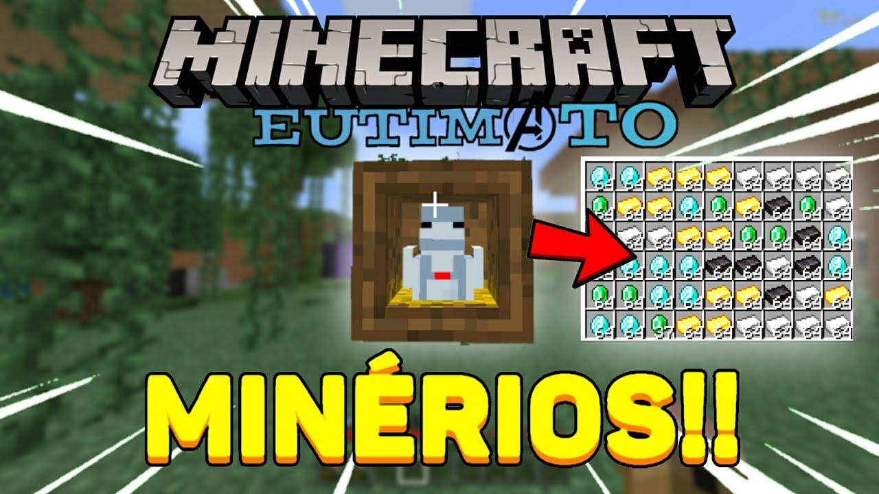 Download Minecraft Eutimato  Ep:03 | Addon das Galinhas de Minérios!!! Bedrock/Xbox One com Addons