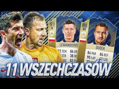 11 WSZECHCZASÓW REPREZENTACJI POLSKI !!! | FIFA 18