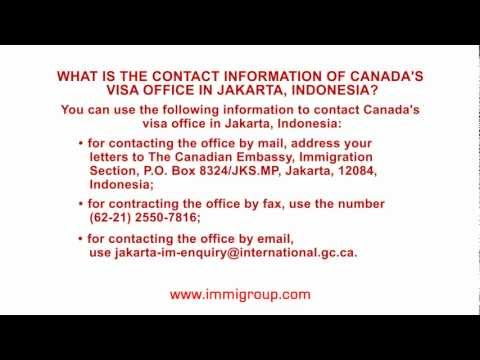 What is the contact information of Canada's visa office in Jakarta, Indonesia?