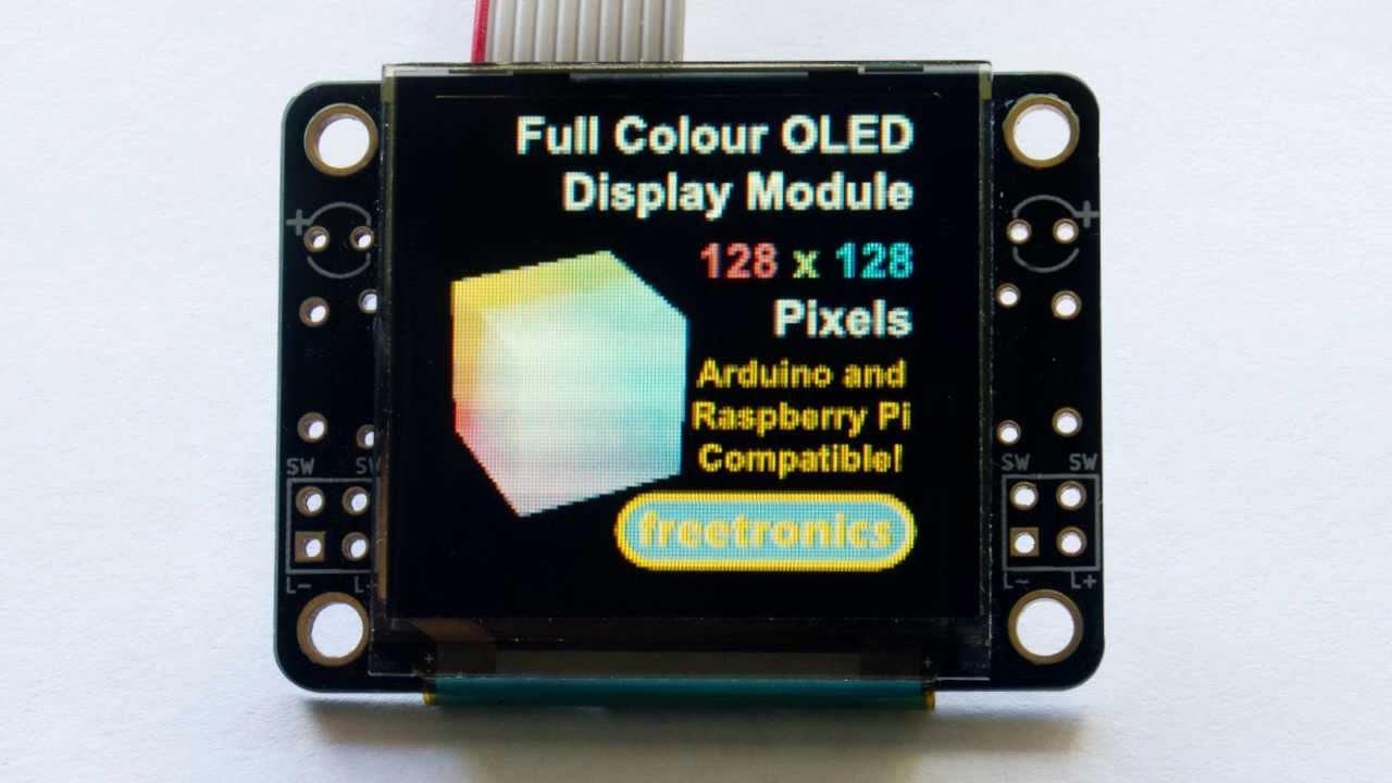 128x128 Pixel OLED Module | Freetronics