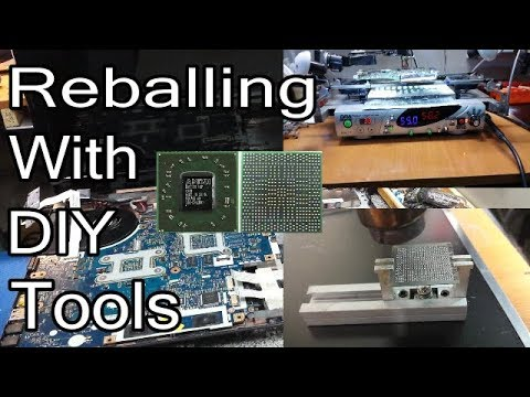Reballing Packard Bell TK81 With DIY BGA Rework Station