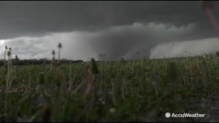 Massive wedge tornado touches down in Kansas