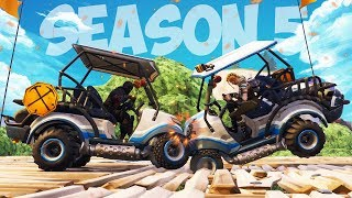 GOLF CART DEMOLITION DERBY! NEW SEASON 5 GAME in FORTNITE!