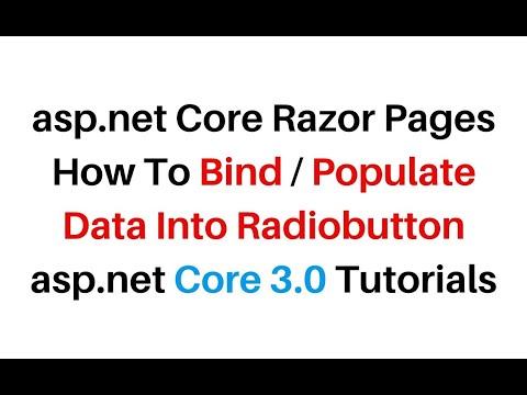ASP.NET Core Razor Pages Binding Data Into Radio Button Visual Studio2019