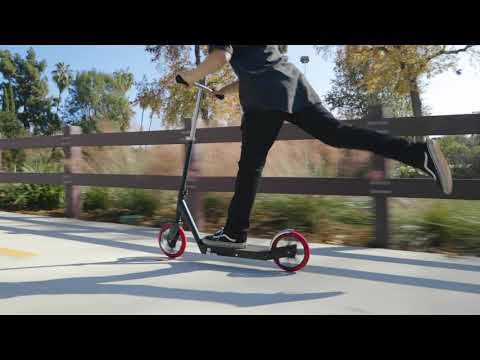 Razor Carbon Lux Kick Scooter Ride Video