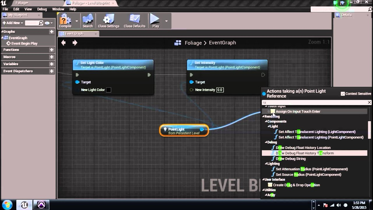 Ptv unreal engine 4 blueprints tutorial 8 functions and custom ptv unreal engine 4 blueprints tutorial 8 functions and custom events malvernweather Gallery