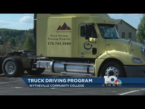 Wytheville Community College offering truck driving training